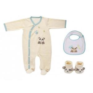 Coffret pyjama + bavoir + chaussons Panda DOMIVA