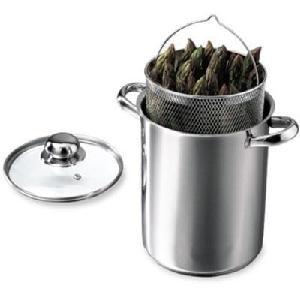 Cuit-asperges 2 en 1 Ø 16,5 cm