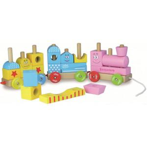 Train de Cube en Bois Barbapapa