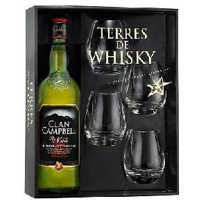 Coffret Clan Campbell 0,7 L + 4 verres
