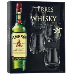 Coffret Jameson Premium 0,7 L + 4 verres