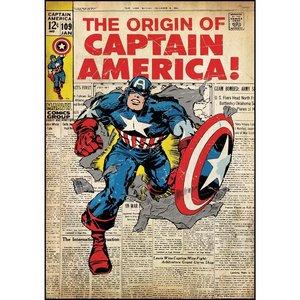 Sticker repositionnable Captain America•