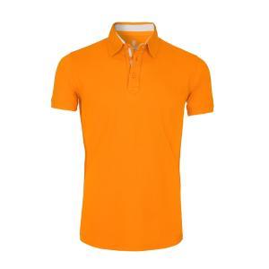 Polo Manches Courtes en coton Orange The Player