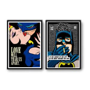 2 Affiches d'art Superheroes Wall Editions