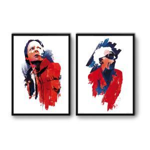 2 Affiches d'art Retour vers le Futur WALL EDITIONS