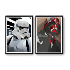 2 Affiches d'art Star Wars WALL EDITIONS
