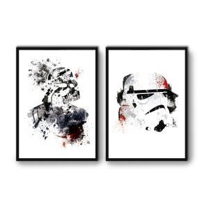 2 Affiches d'art Vador et Storm Trooper WALL EDITIONS