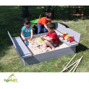 Bac à sable avec bancs SOULET